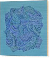 Voilet Spiral Wood Print
