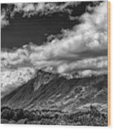 Volcan De Fuego - Bnw - Antigua Guatemala Wood Print