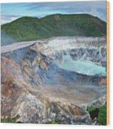 Volcan Poas Wood Print