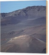 Volcanic Cinder Cones In Haleakala Wood Print