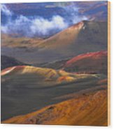 Volcanic Crater In Maui Wood Print