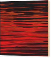 Volcanic Water Wood Print