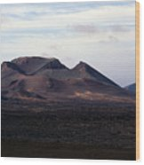 Volcano 1 Wood Print
