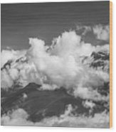 Volcano Chachani In Arequipa Peru Covered By Clouds Wood Print