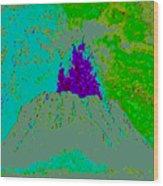 Volcano D4 Wood Print