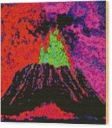 Volcano D5b Wood Print