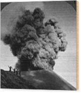 Volcano: Java, 1910 Wood Print