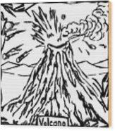 Volcano Maze Wood Print