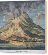 Volcano: Mt. Etna Wood Print