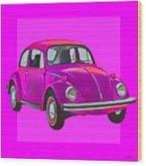 Volkswagen Beetle So Pinks Wood Print