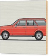 Volkswagen Dasher Wagon / Vw Passat B1 Variant Wood Print