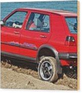 volkswagen Golf II  Wood Print