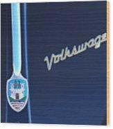 Volkswagen Vw Bug Hood Emblem Wood Print
