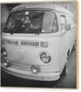 Volkswagen Westfalia Camper Wood Print by Stefano Senise