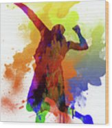 Volleyball Wood Print