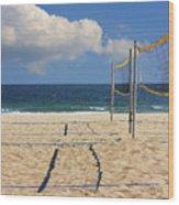 Volleyball Net Wood Print