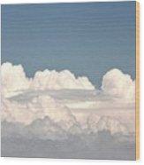 Voluminous Clouds Wood Print