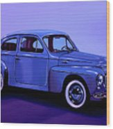Volvo Pv 544 1958 Mixed Media Wood Print