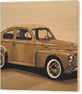 Volvo Pv 544 1958 Painting Wood Print
