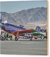 Voodoo Engine Start Sunday Gold Unlimited Reno Air Races Wood Print