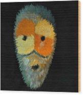 Voodoo Mask Wood Print