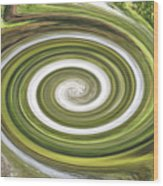 Vortex - River Frays Abstract Wood Print