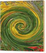 Vortex Abstract Art No. 16 Wood Print