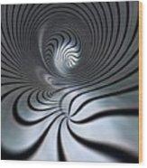 Vortex In Metal  Wood Print