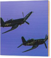 Vought F-4u Corsairs Wood Print
