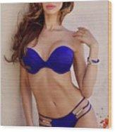 Voula Blue Bikini Wood Print