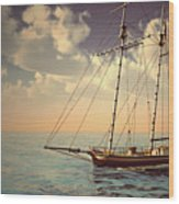 Voyage Of The Cutter Wood Print