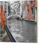 Voyage Of Venice Wood Print
