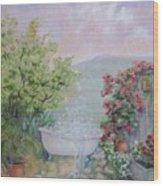 Voyeur At The Secret Garden Health And Beauty Spa Wood Print