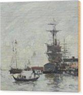Vue De Venise Wood Print