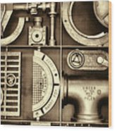 Vulcan Steel Steampunk Ironworks Wood Print
