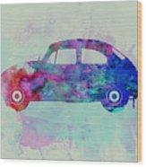 Vw Beetle Watercolor 1 Wood Print