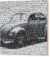 Vw Bug Volkswagen Mosaic Wood Print