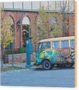 V W Bus Wood Print