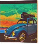 Classic Surf Rod Wood Print