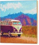 Vw Van Classic Wood Print