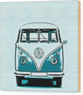 Vw Van Graphic Artwork Wood Print