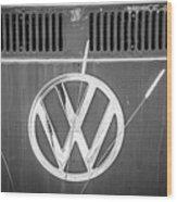 Vw Van Logo Wood Print