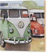 VW3 Wood Print