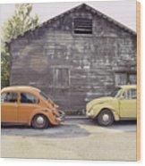 Vw's In Skagway Alaska Wood Print by Bruce Stanfield