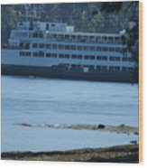 Wa State Ferry In Manchester Wood Print
