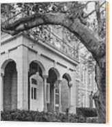 Wabash College Center Hall Wood Print