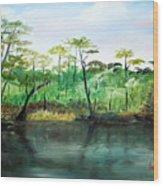 Waccamaw River - Impressionist Wood Print