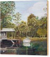 Waccamaw River Sloop Wood Print