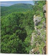 Wachusett Mountain From Crow Hill Wood Print