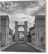 Waco Historical Suspension Bridge Wood Print